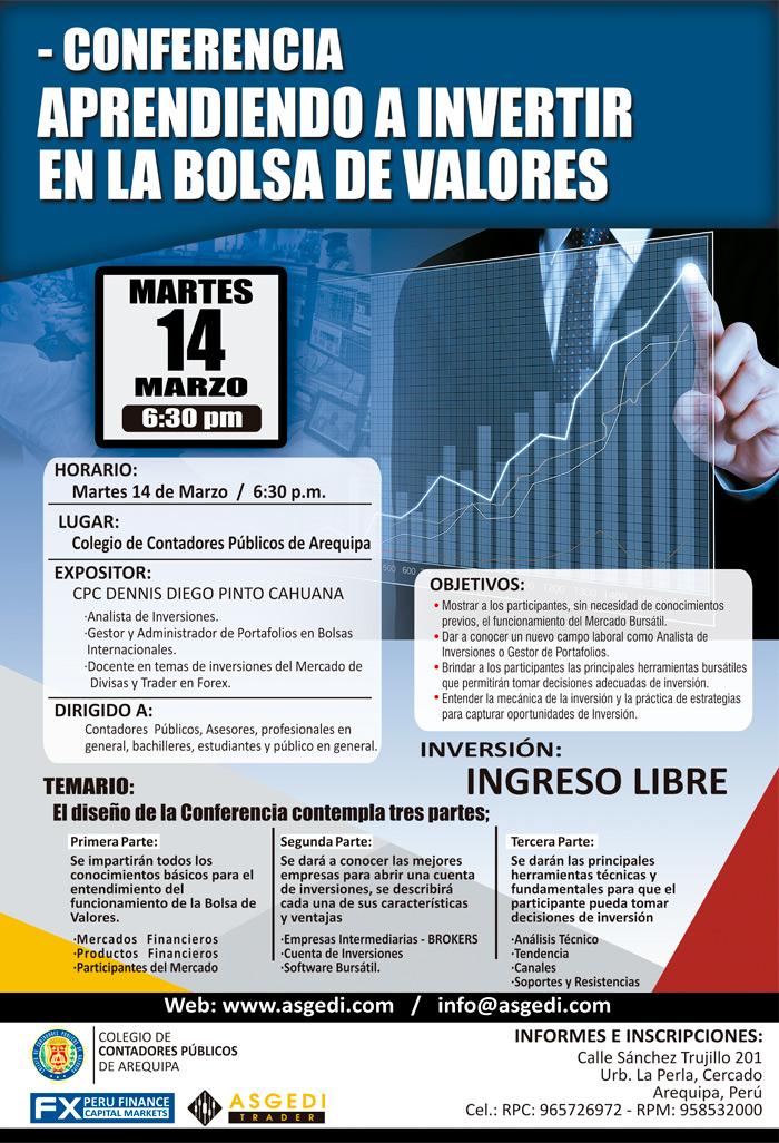 Conferencia Aprendiendo a Invertir en la Bolsa de Valores - Arequipa - Perú