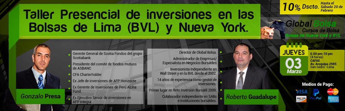 Taller de Inversiones en las Bolsas de Lima y New York