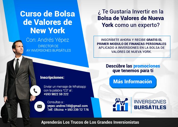Curso de Bolsa de Valores de New York - Andrés Yépez - Director de AY Inversiones Bursátiles