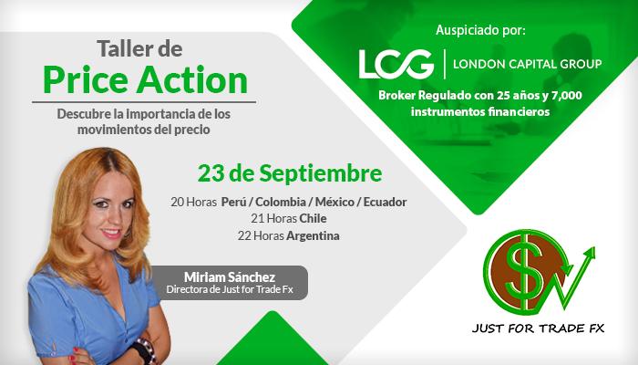 Taller de Price Action con Miriam Sánchez - Just for Trade Fx
