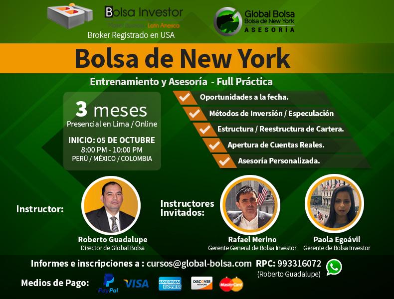Entrenamiento y Asesoria: Bolsa de New York