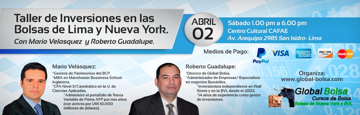Taller de Inversiones: 02 Abril en Lima