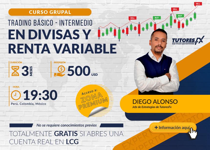 Curso Grupal: Trading Básico - Intermedio en Divisas y Renta variable